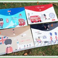 Map A4 Plastik I Love London