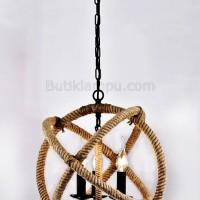 Lampu Gantung Rope Light Fixture Triple