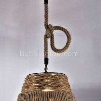 Lampu Gantung Rope Light Fixture Single