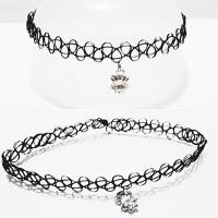 harga Choker Tattoo Necklace Black Fox | Kalung Handmade Tokopedia.com