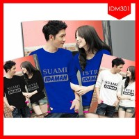 GROSIR Kaos Pasangan Suami Istri Idaman Terlaris!!