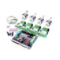 4 Axis CNC Engraving Control kit with Mach3 57 3A stepper driver AH20