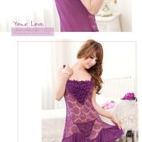 Lingerie Elegan Seksi   Seserahan   Baju Tidur 71759102 Dark Purple