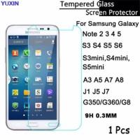 Tempered Glass Samsung Galaxy J2 J5 J7 A3 A5 A7 E S Note