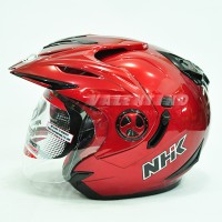 HELM NHK Aviator SL Red Maroon