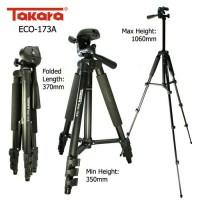 Tripod Tri Pod Murah / Takara / ECO-173A / Free Tas + Pouch