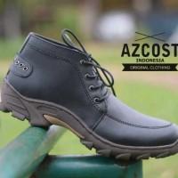 Sepatu Boot Pria Azcost Jakualo Kulit