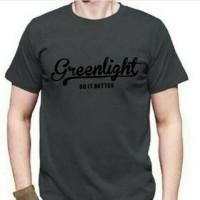 kaos/baju/T-shirt/oblong GREEN LIGHT