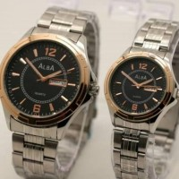 COUPLE ALBA DATE RANTAI LIST GOLD PLAT BLACK