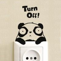 Jual Stiker Dekorasi Saklar Lampu Motif Panda Unik Panda Decal Wall Sticker Murah
