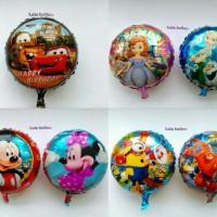 Balon foil motif Frozen , Minion , sofia , princess , minnie , dll...
