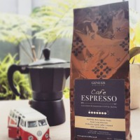 GENESIS COFFEE Cafe Espresso - Arabica Colombia Indonesia Coffee Blend