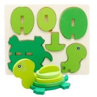 Jual Puzzle Patung Kayu 3D Mainan Edukatif Edukasi Anak - Kura - PC010 Murah