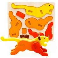 Jual Puzzle Patung Kayu 3D Mainan Edukatif Edukasi Anak - Harimau - PC001 Murah
