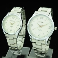 Jam Tangan Couple Fossil CR432 (Guess Gc Diesel Cartier Seiko Alba)