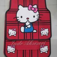 Karpet Karet Lantai Mobil Universal Hello Kitty Merah HK Red