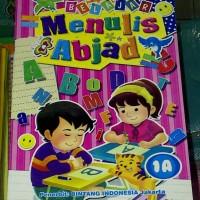 Buku Anak PAUD dan TK, belajar Menulis Abjad, Huruf