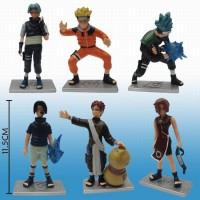 Action Mini Figure Pajangan Mainan Anak Naruto Shippuden Sasuke Gaara