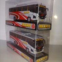 BUS MIRA (Ekonomi AC), Miniatur Bus Mainan, Paper Bus, PaperBus