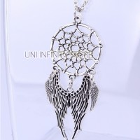 Jual JWNE0089 Kalung Dreamcatcher Pria Wanita (Wings Dream Catcher Necklace Murah