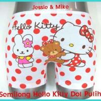 Celana Dalam Anak (Semilong) Hello Kitty (Cangkir, Dot Putih, Garis Etc