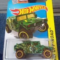 HW514 Hot Wheels 2014 HW Off-Road Jungle Rally - Humvee Green