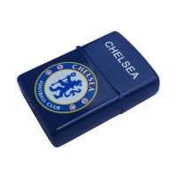 Korek Elektirk Logo Chelsea Biru (Korek Zippo Usb)