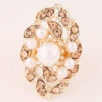 cn225 cincin korea Alloy Rhinestone Pearl beauty (pic 1)