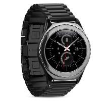 Samsung Gear S2 Black Stainless Steel / Metal Strap 3 Pointer Hoco