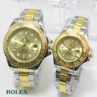 ROLEX SEPASANG SILVER GOLD COVER GOLD