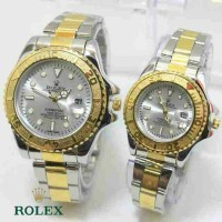 ROLEX SEPASANG SILVER GOLD COVER SILVER