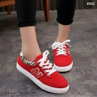 SEPATU SNEAKERS ANKLE BOOTS KETS CASUAL NIKE RED MERAH CL004