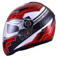 Helm KYT Alpha Venom Black Red White Double Visor Full Face