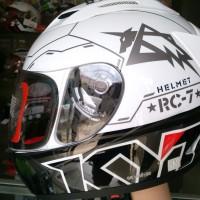 harga Helm Kyt Rc Seven Rc7 7 Full Face Motif Fullface Putih Hitam Tokopedia.com