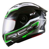 harga Helm Kyt Rc Seven Rc7 7 Full Face Motif Fullface Hitam Hijau Tokopedia.com