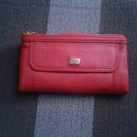 dompet wanita fossil emma real red