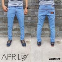 Jeans Pria April 77 | Skinny | Slimfit | Hitam Bioblitz /) Dongker
