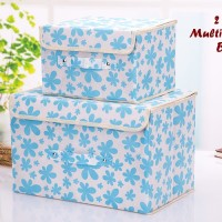2 In 1 Multifunction Box LIGHT BLUE (1 Set Isi 2 Box Ukuran Berbeda)
