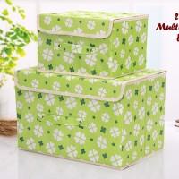2 In 1 Multifunction Box LIGHT GREEN 1 Set Isi 2 Box Kotak Penyimpanan