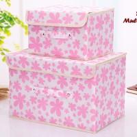 2 In 1 Multifunction Box SOFT PINK 1 Set Isi 2 Box / Kotak Penyimpanan