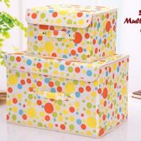 2 In 1 Multifunction Box POLKADOT 1 Set Isi 2 Box Kotak Penyimpanan