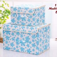 2 In 1 Multifunction Box LIGHT BLUE 1 Set Isi 2 Box Kotak Penyimpanan
