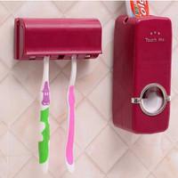 Set Tempat Dispenser Pasta Gigi Odol + Tempat Sikat Gigi Praktis Rapi