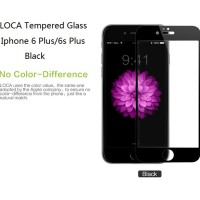 Jual Iphone 6 Plus/6s Plus Full Screen LOCA Tempered Glass BLACK Murah