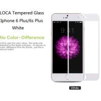 Jual Iphone 6 Plus/6s Plus Full Screen LOCA Tempered Glass WHITE Murah