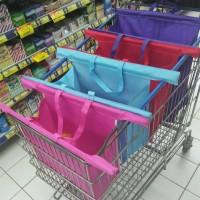 trolley troley troli supermarket bag set tas belanja shopping foldable
