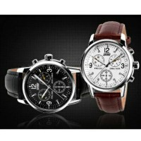 SKMEI Casual Men Leather Strap Watch Water Resistant 30 M - 9070CL