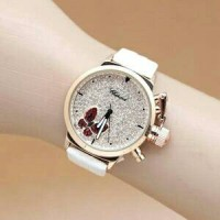 Jam Tangan Wanita Chopard Butterfly Premium Putih / Blue