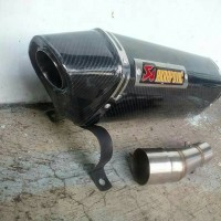 KNALPOT AKRAPOVIC OVAL CARBON SLIP ON CBR, NINJA 250, Z250