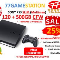 PS3 - SONY PLAYSTATION 3 SLIM CFW MULTIMAN 500GB > LENGKAP & TERMURAH
